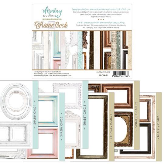 Bloc 24 pages Frame Book motifs à découper MINTAY BY KAROLA
