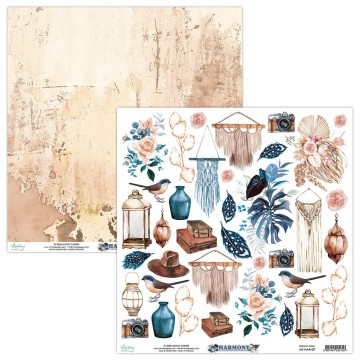 Papier scrapbooking motifs à découper collection Harmony MINTAY BY KAROLA