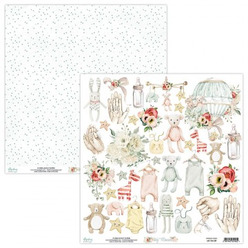 Papier scrapbooking motifs à découper collection Tiny Miracle MINTAY BY KAROLA