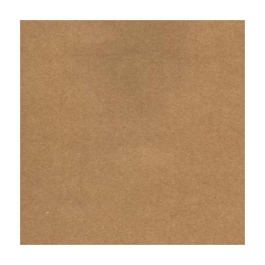 Papier cardstock uni 30 x 30 Kraft brun