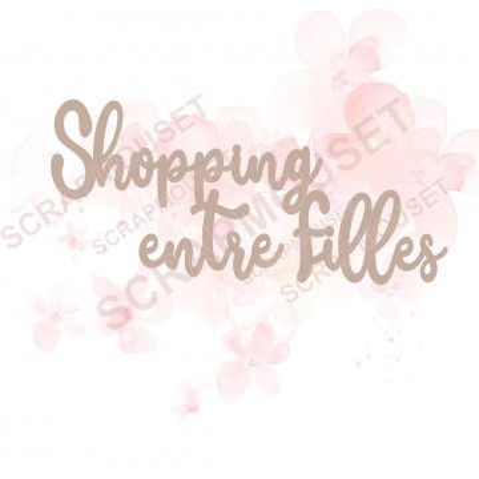 Mot Shopping entre filles en carton bois SCRAPMOUSET