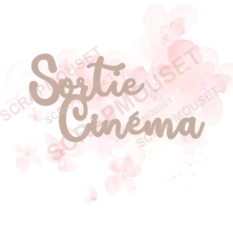 Mot Sortie cinéma en carton bois SCRAPMOUSET
