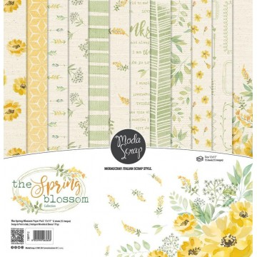 Set 12 papiers scrapbooking 30 x 30 collection The Spring blossom MODA SCRAP