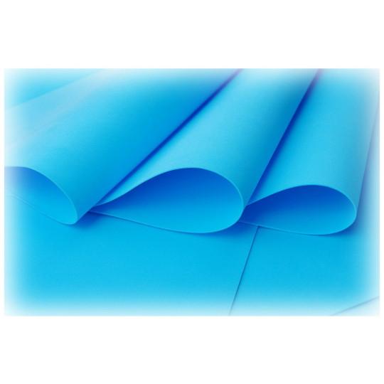 Feuille de mousse foamiran 29 cm x 34 cm Bleu clair
