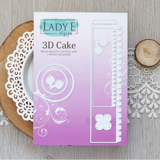 Set de 7 matrices de découpe Cake 3D LADY E DESIGN