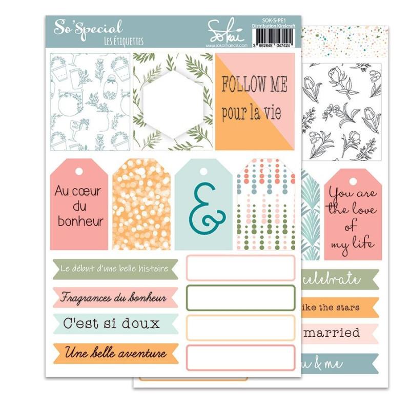 Planche d'étiquettes à découper collection So'Special SOKAI