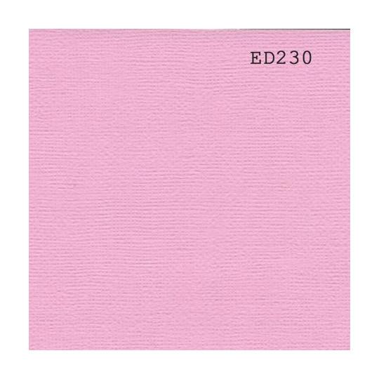 Papier cardstock uni 30 x 30 Rose dragée