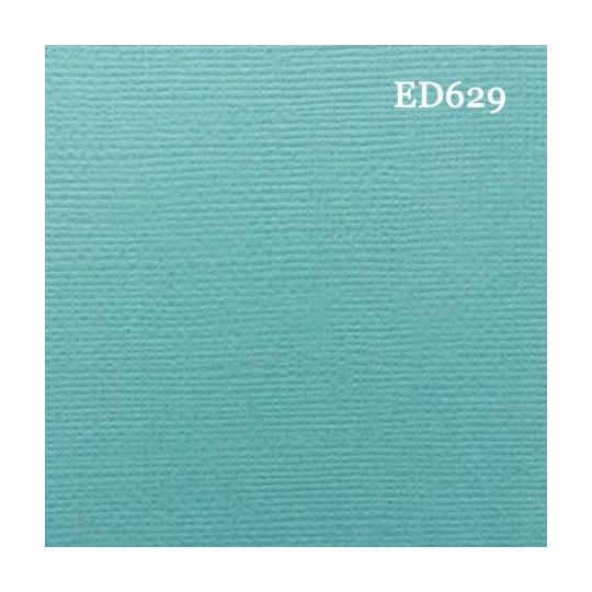 Papier cardstock uni 30 x 30 Bleu vert