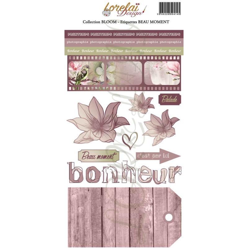 Planche d'étiquettes Beau Moment collection Bloom LORELAÏ DESIGN