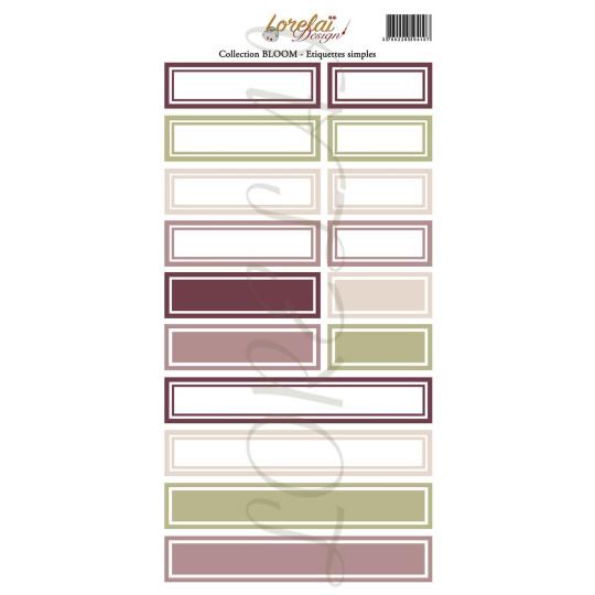 Planche d'étiquettes simples collection Bloom LORELAÏ DESIGN