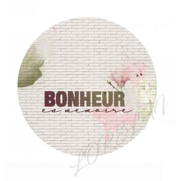 Badge Bonheur en mémoire collection Bloom LORELAÏ DESIGN