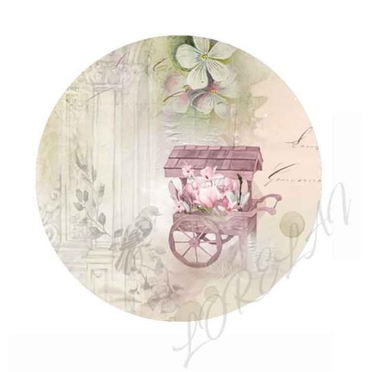 Badge Marché aux fleurs collection Bloom LORELAÏ DESIGN