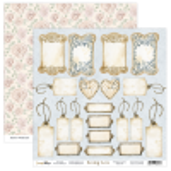Bloc 12 papiers scrapbooking 30 x 30 collection Sewing Love SCRAPBOYS
