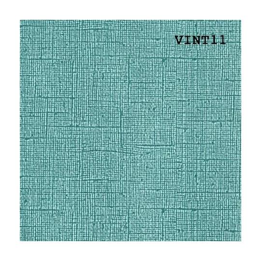 Papier cardstock uni 30 x 30 aspect vintage Vert Malachite