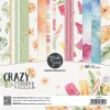 Set 12 papiers scrapbooking 15 x 15 collection Crazy Summer MODA SCRAP