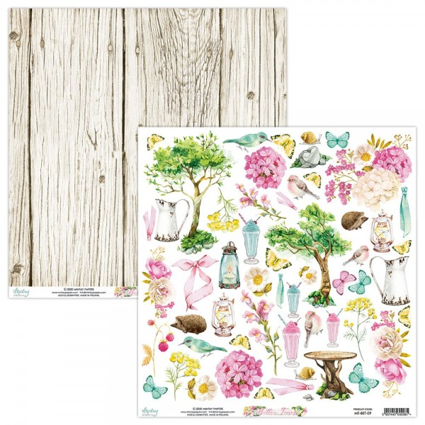 Feuille papier scrapbooking motifs à découper collection Better Times MINTAY BY KAROLA