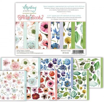 Bloc 24 pages Flora Book 2 MINTAY BY KAROLA