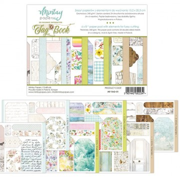 Bloc 24 pages Tag Book MINTAY BY KAROLA