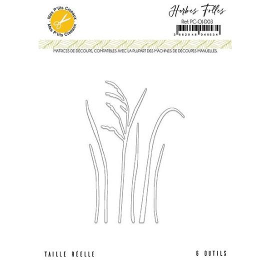 Set 6 matrices de découpe Herbes Folles collection Ô Jardin MES P'TITS CISEAUX