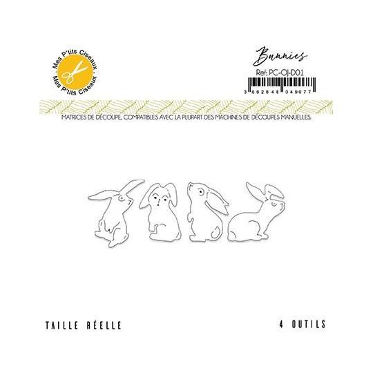 Set 4 matrices de découpe Bunnies collection Ô Jardin MES P'TITS CISEAUX