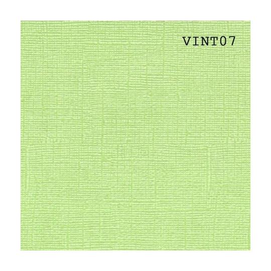 Papier cardstock uni 30 x 30 aspect vintage Vert Chartreuse