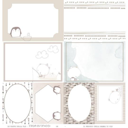 Feuille papier scrapbooking cartes à découper collection Trésor le plus précieux LE CARTE DELLA CLE