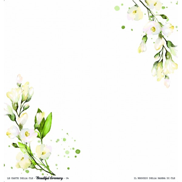 Set papiers scrapbooking collection Beautiful Greenery LE CARTE DELLA CLE