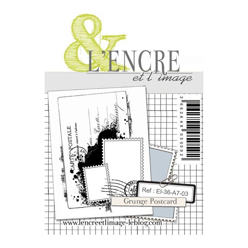 Tampon clear Grunge Postcard L'ENCRE ET L'IMAGE