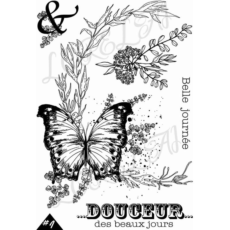 """Set 5 tampons clear Rosace Douceur collection """"Esprit Bucolique"""" LORELAÏ DESIGN"""