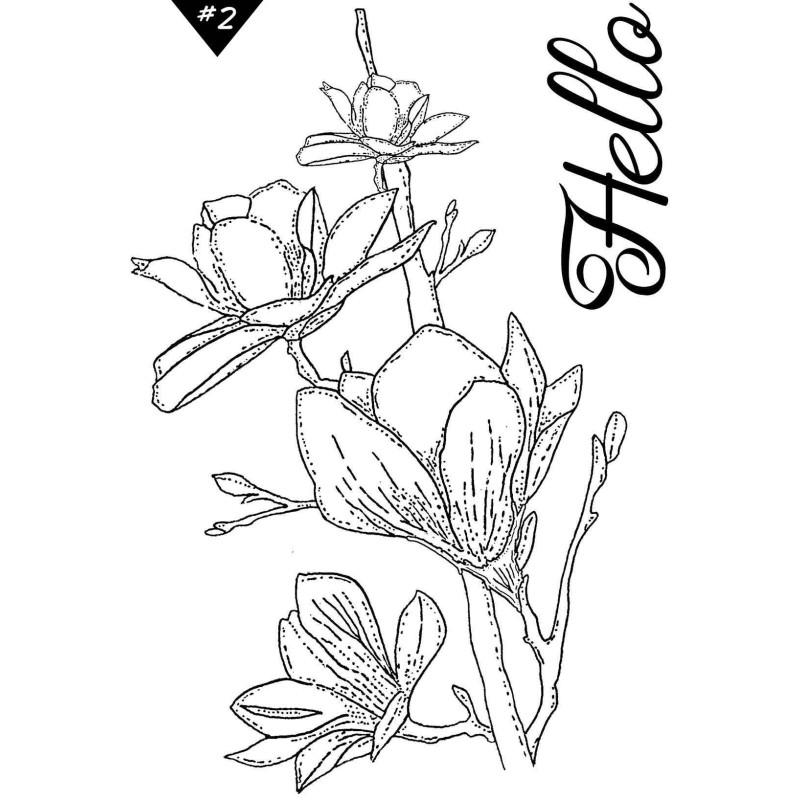 Set 2 tampons clear Hello collection Esprit Bucolique LORELAÏ DESIGN
