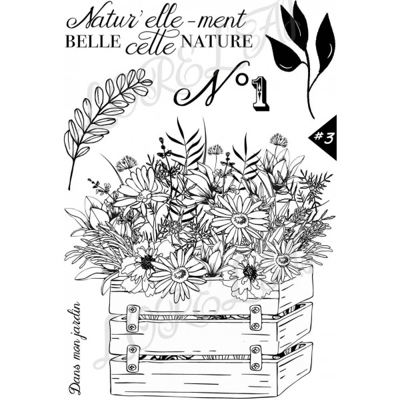 Set 6 tampons Naturellement belle collection Esprit Bucolique LORELAÏ DESIGN