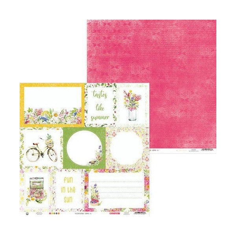 Bloc 12 papiers scrapbooking 30 x 30 collection The Four Seasons Summer PIATEK