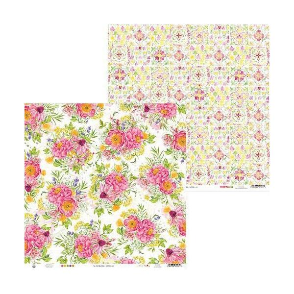 Bloc 24 papiers scrapbooking 15 x 15 collection The Four Seasons Summer PIATEK