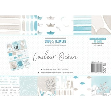 Set 7 papiers scrapbooking...