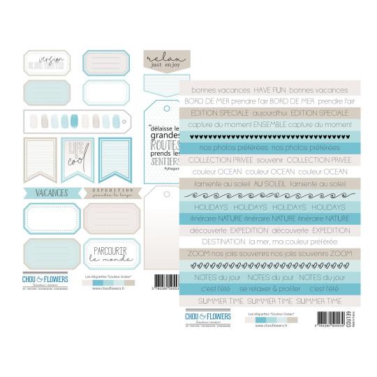 Set 2 planches étiquettes collection Couleur Océan CHOU & FLOWERS