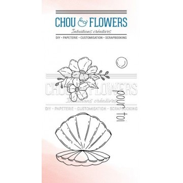 Set 4 tampons clear Coquille collection Couleur Océan CHOU & FLOWERS