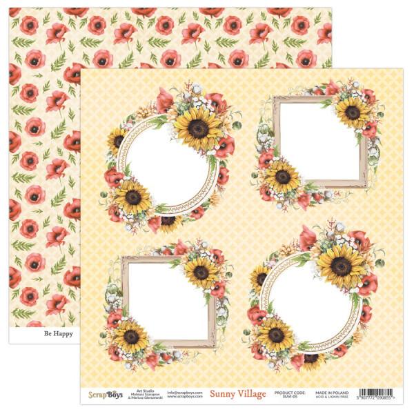 Bloc 24 papiers scrapbooking 15 x 15 collection Sunny Village SCRAPBOYS