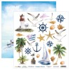 Bloc 24 papiers scrapbooking 15 x 15 collection Summer Breeze SCRAPBOYS