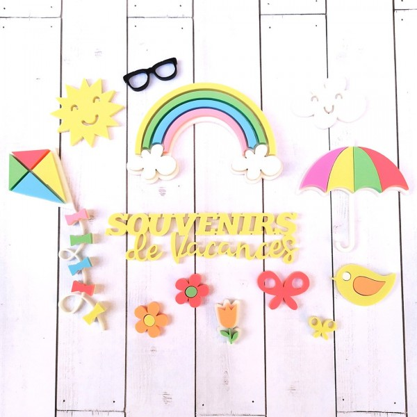 Collection d'embellissements en Acrylique Arc en ciel 2020 SCRAPMOUSET