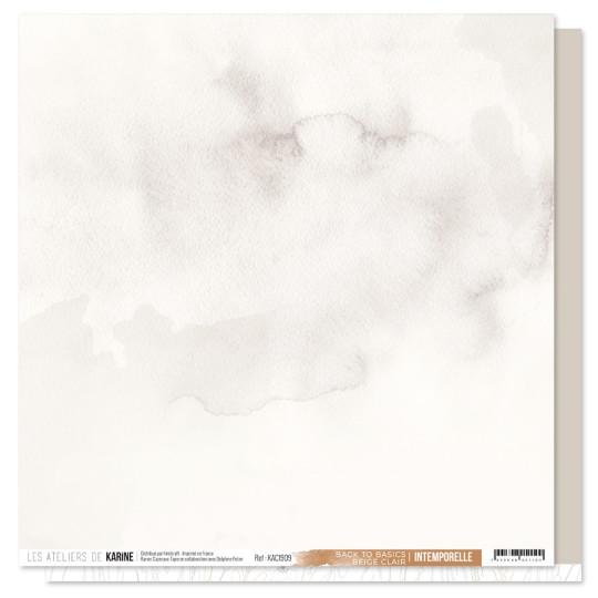 Feuille Back to Basics 30 x 30 beige clair collection Intemporelle LES ATELIERS DE KARINE