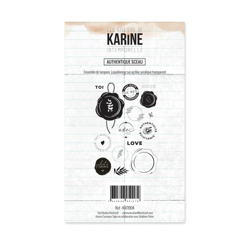 Set tampons polymère Authentique sceau collection Intemporelle LES ATELIERS DE KARINE