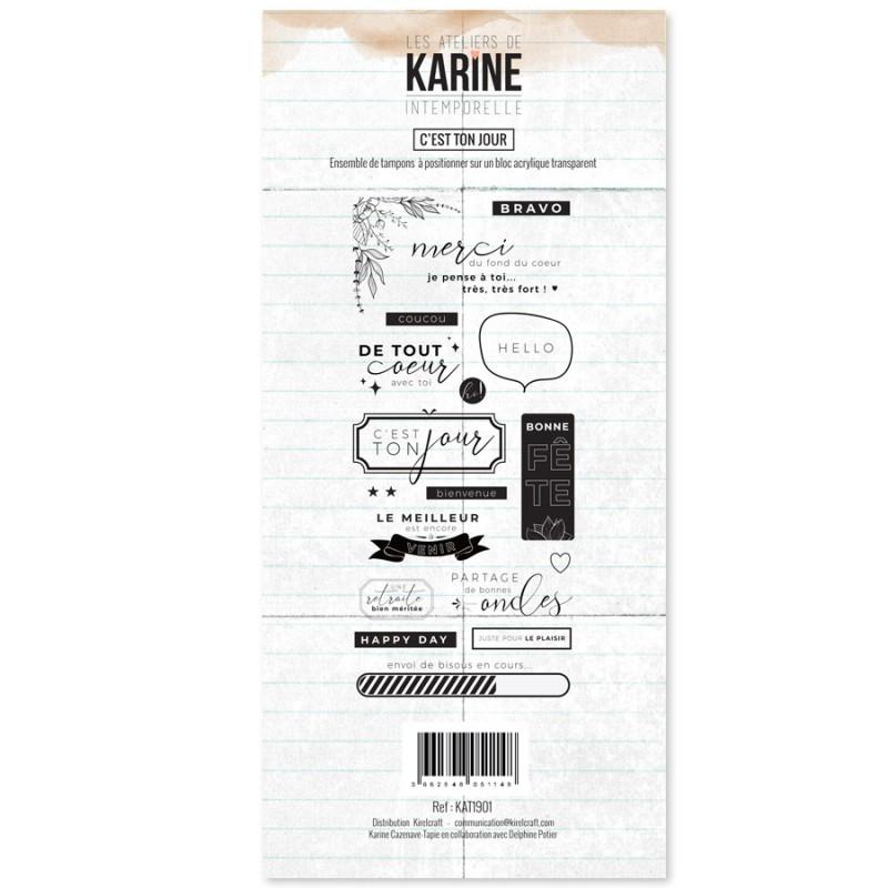 Set tampons polymère C'est ton jour collection Intemporelle LES ATELIERS DE KARINE