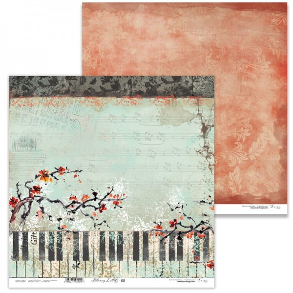 Set 11 papiers scrapbooking 30 x 30 collection Blooming Lullaby LEXI DESIGN