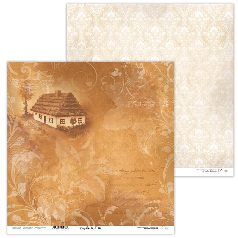 Set 11 papiers scrapbooking 30 x30 collection Pumpkin Seed LEXI DESIGN