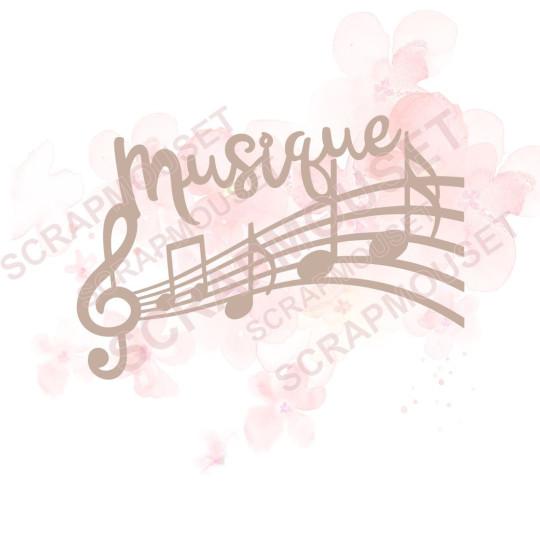 Mot Musique sur portée...