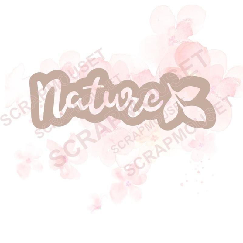 Mot Nature et feuillages nouveau design en carton bois SCRAPMOUSET