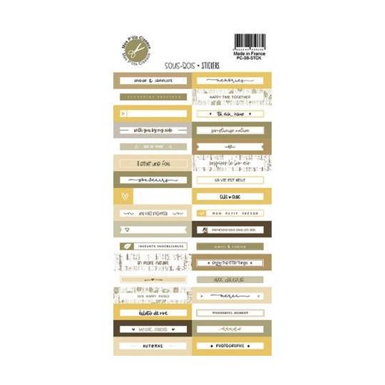 Planche d'étiquettes adhésives collection Sous-Bois MES P'TITS CISEAUX