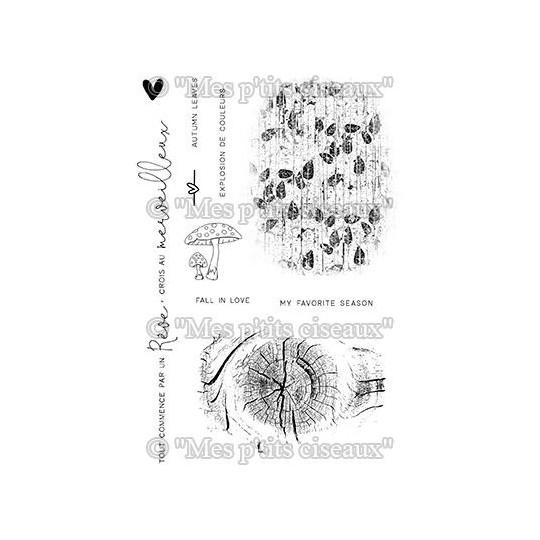 Set 10 tampons en polymère Fonds Nature MES P'TITS CISEAUX