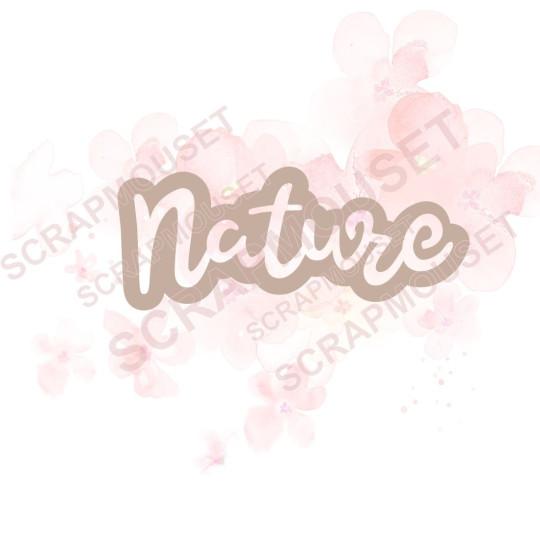 Mot Nature nouveau design...