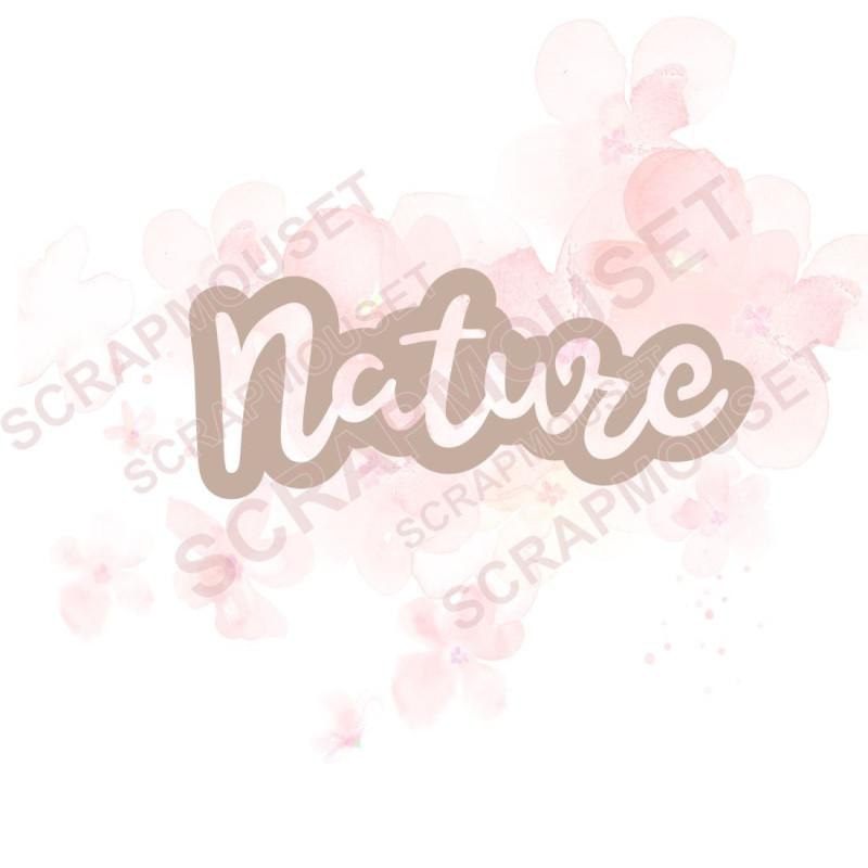 Mot Nature nouveau design en carton...